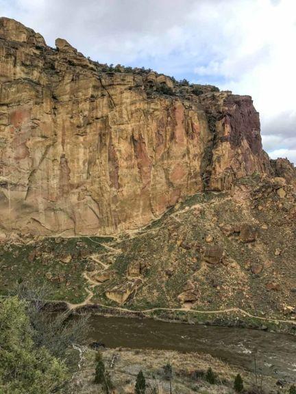 The switchbacks of the Misery Ridge Trail beckon