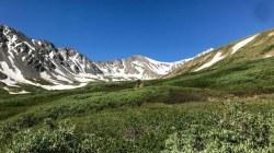 Looking back at Grays Peak