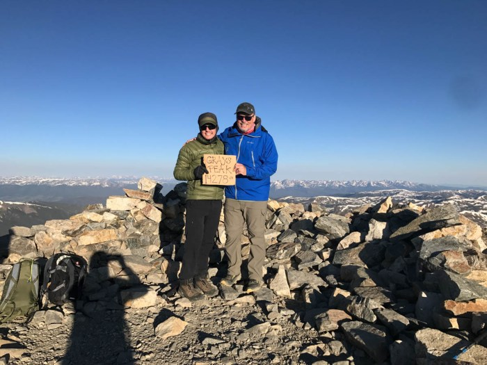 Mike Off the Map and The SoCalHiker on Grays Peak