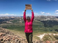 Author at the summit of Mount Bierstadt