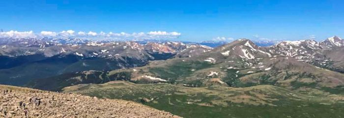 Panoramic view from Mt Bierstadt