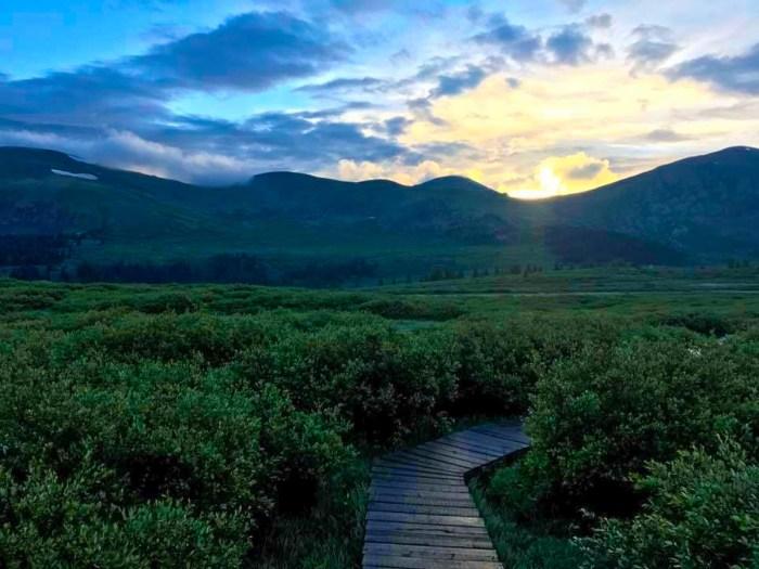 Early morning start on Mt Bierstadt