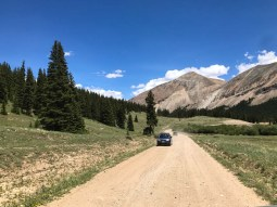 Travel 11 miles on this gravel road