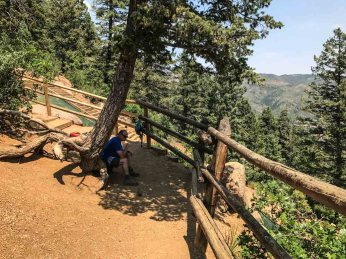 Halfway point on the Manitou Incline
