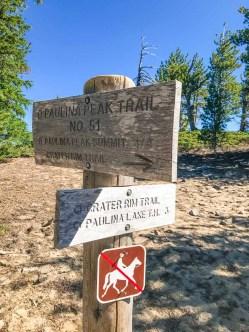 Trail junction en route to Paulina Peak