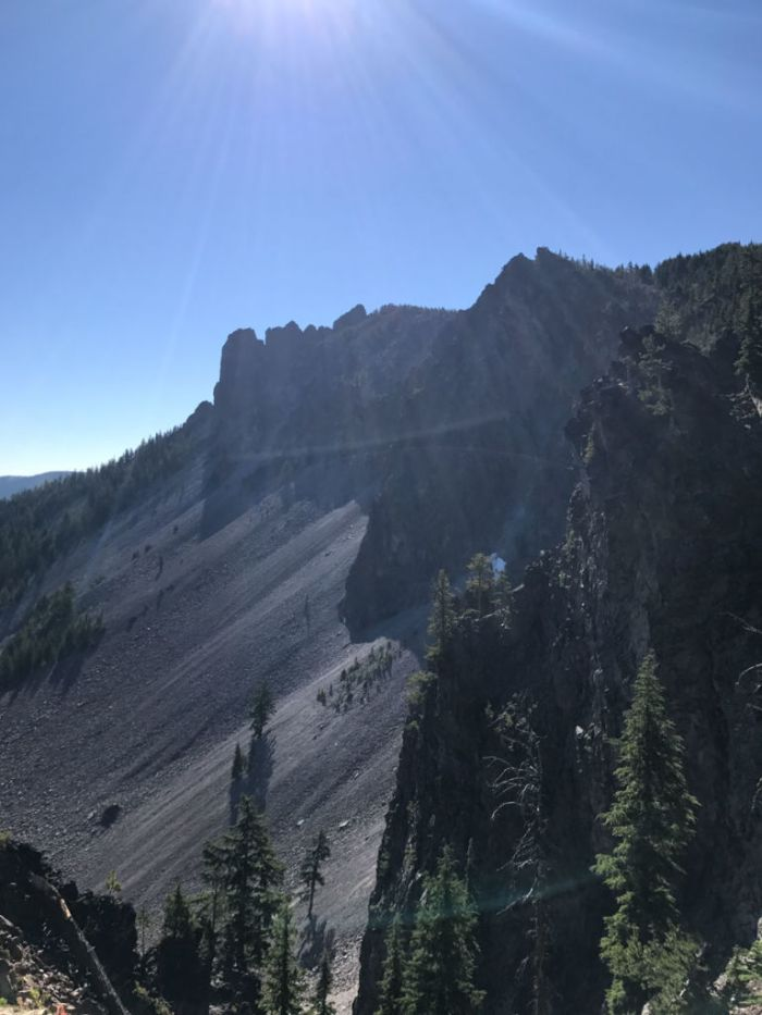 Overlook with a view of Paulina Peak