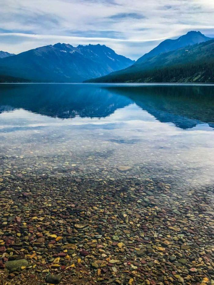 Reflections of the Rocky Mountains on Kintla Lake