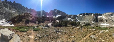 Bishop Pass from Bishop Lake