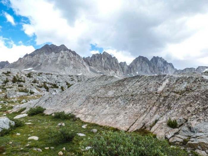 The Palisades, as seen from Dusy Basin