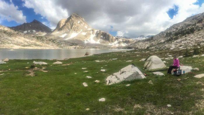 Sapphire Lake camp