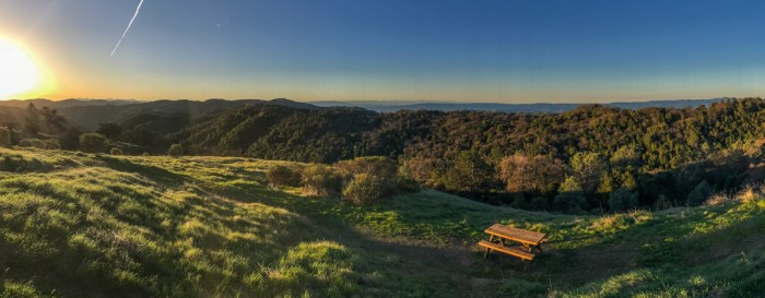 Panorama from the Henry Coe State Park Headquarters
