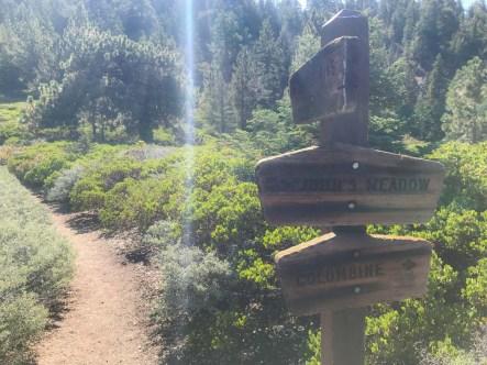 Junction with the main San Bernardino Trail