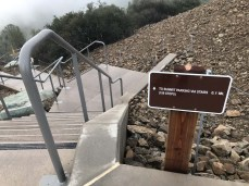 Concrete steps from the summit parking area to the top