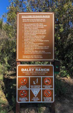 Rules at Daley Ranch
