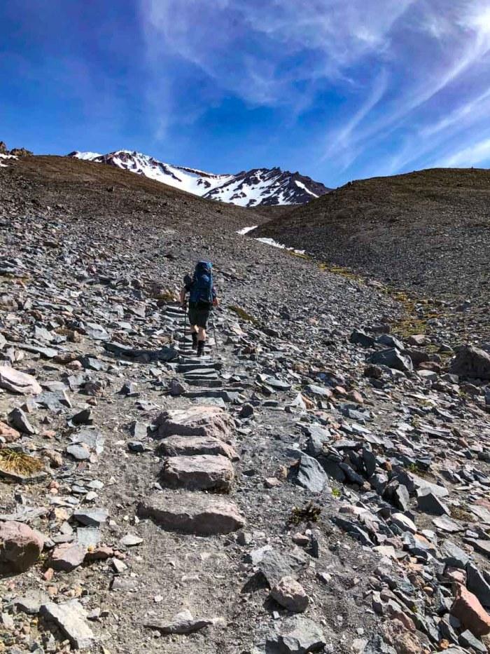 John (aka Moosefish) heading into the exposed climb