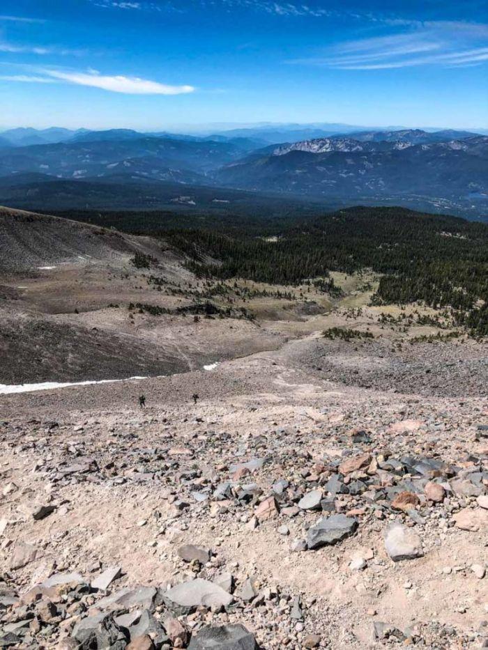 Looking back down toward Horse Camp