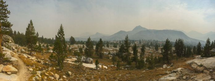 There were no clouds in the sky, just smoke from the Rough Fire. Smelled like a campfire all day long.