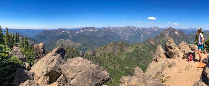 Looking northwest from the summit of Mt Ellinor