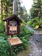 Sign the Mount Pilchuck Trail Register before starting your hike
