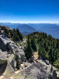 Looking down the Trail on Mt Pilchuck