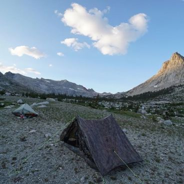 Camping on the High Sierra Trail