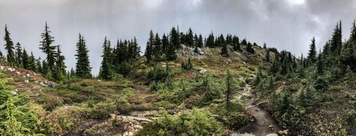 The backside of Granite Mountain