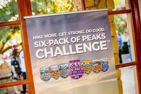 Six-Pack of Peaks Challenge sign
