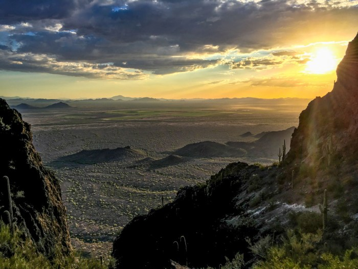 Golden Hour on Picacho Peak