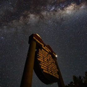 Milky Way behind the Machame Camp Sign