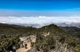 Climbing above the clouds on Kilimanjaro
