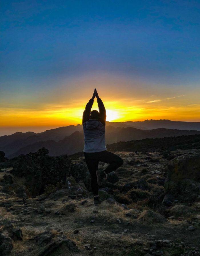 Sunset Yoga on Kilimanjaro