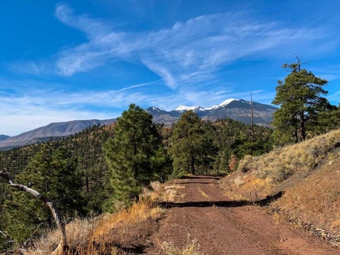 Humphrey's Peak rises into view