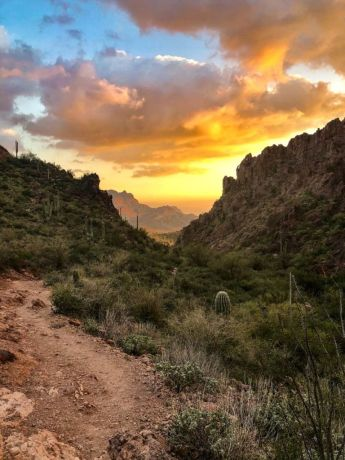 Heading down Peralta Canyon
