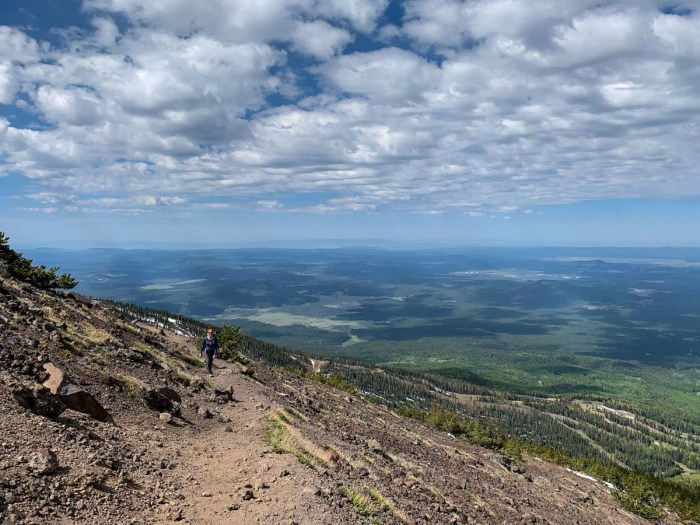 View from the side of Humphreys Peak