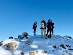 Snowy summit of Mount Saint Helena