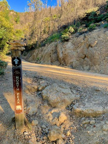 North Peak trail marker