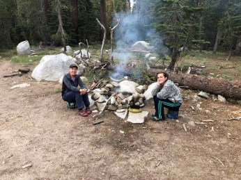 Camp at Moraine Meadow Trail Junction