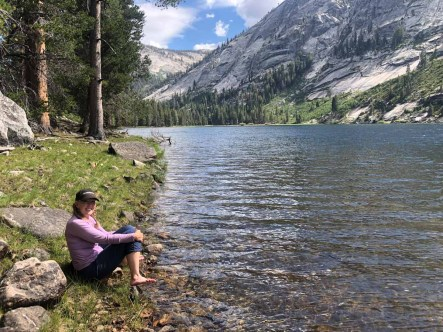 Soaking our Feet in Washburn Lake