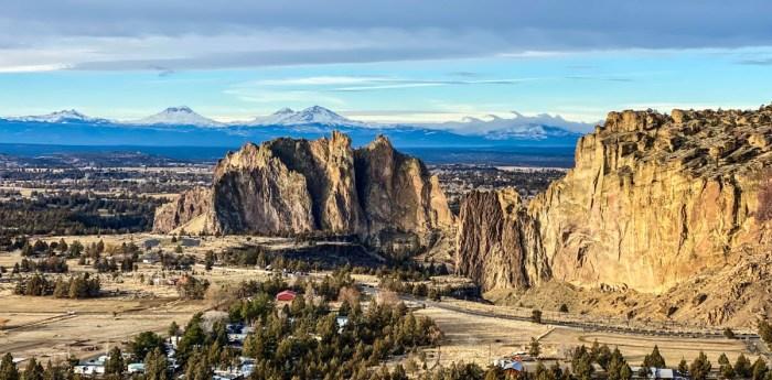 Smith Rock and the Cascade Mountains