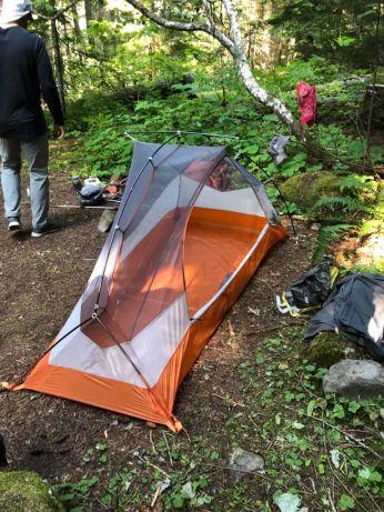 Breaking camp at North Puyallup River