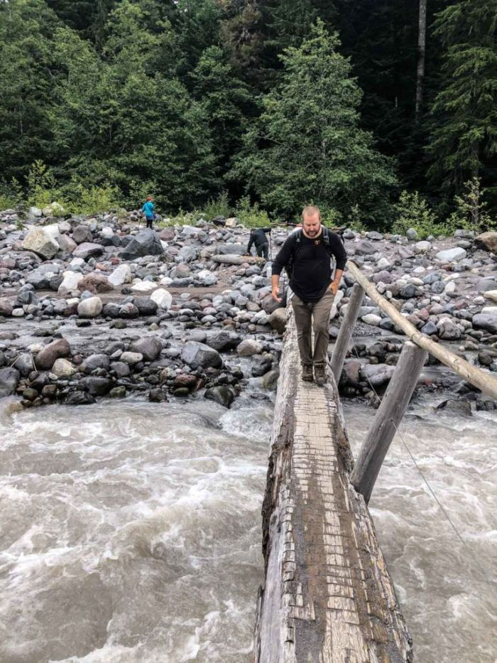 Crossing the Nisqually River