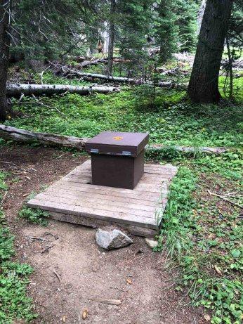 Toilet at Granite Creek CG