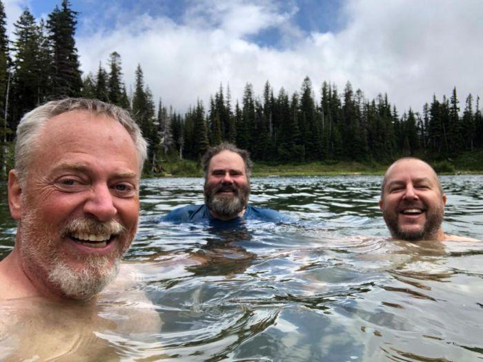 Jeff, Jason and Derek in Mystic Lake