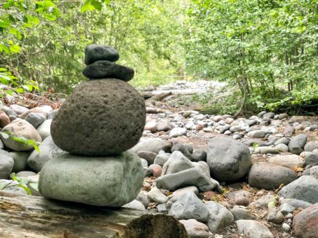 Cairn at South Mowich River