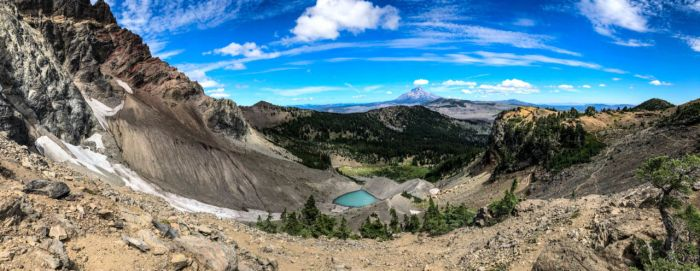 Pano from Saddle below Three Finger Jack