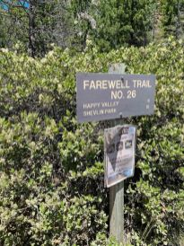 Farewell Trail sign