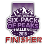2018 SoCal Six-Pack of Peaks Finisher