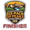 2018 Colorado Rockies Six-Pack of Peaks Finisher