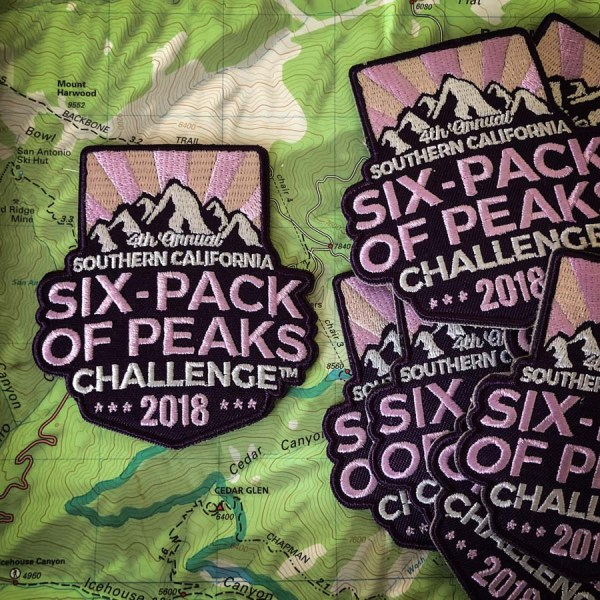 2018 SoCal Six-Pack of Peaks Challenge patch