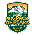 Arizona Summer Six-Pack of Peaks Challenge logo